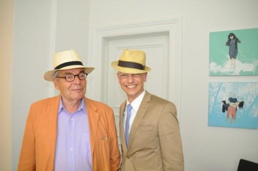 Hoher Besuch gut behütet. Martin Peters erfreute den Gastgeber mit seinem Besuch.