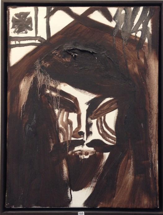 Jonathan Meese, Öl auf Lwd. ca. 40x30 cm aus 2003