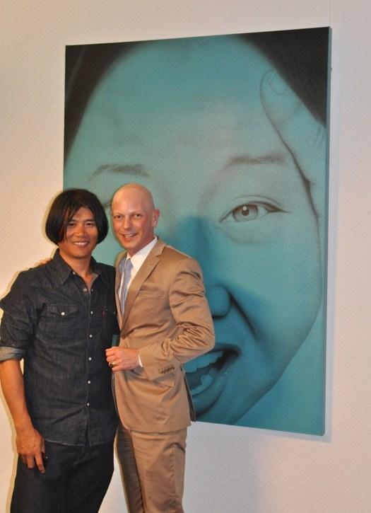 Nach dem erfolgreichen Künstlergespräch sichtlich erleichtert: Ki Yoon Ko.