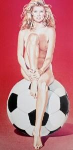 Fussball (WM) Fannie, 1997, 77 x 54 cm