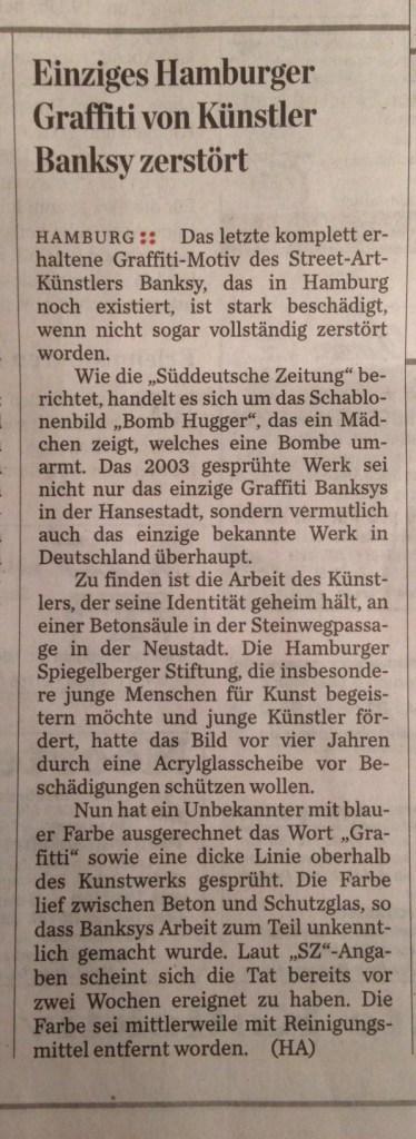 Das Hamburg Abendblatt vom 26. Februar