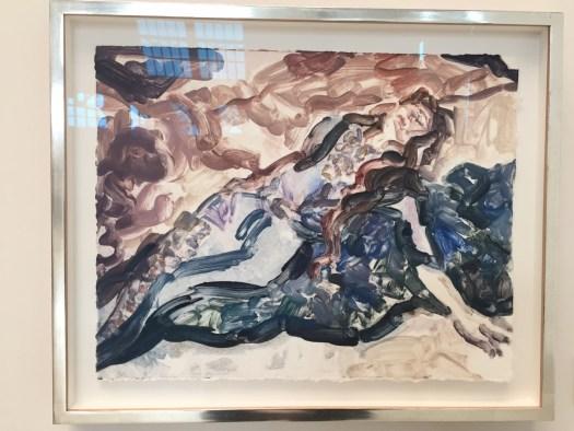 Die große Elisabeth Peyton mit ihren kleinen Formaten dürfte es bei einem Galeriepreis von 47 TEUR für diese sehr poetische Monotypie auf Bütten im Format 46 x 56 sehr schwer haben. Hier besteht die Chance einen guten Schnapper zu machen.