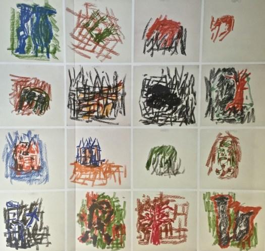 Baselitz mit 17 wunderbaren Farbkreide-Zeichnungen für SP 60-80 TEUR bei Grisebach