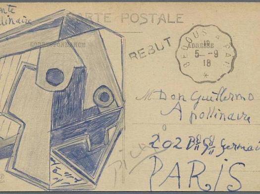 Kubistische Picasso Postkarte unter dem Hammer!