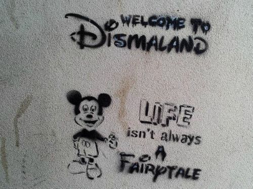 "Banksy ""Welcome to Dismaland - life isn't always a fairytale"", 2006"