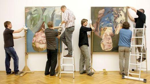Seine Leihgaben an das Dresdner Albertinum hat der Künstler Georg Baselitz wegen des Kulturgutschutzgesetzes wieder zurückgezogen. | © Oliver Killig/dpa