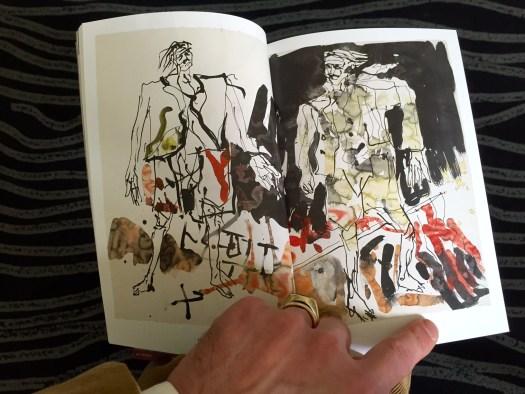 Georg Baselitz, Berliner Zeiten 2015, Tusche und Aquarell auf Papier 67 x 101 cm, versau signiert, Eingeliefert von Georg Baselitz