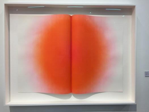 Eine Hommage an das Künstlerbuch. Die Arbeit Fold II von Anish Kapoor ist in einer Auflage von 20 Expl. als Radierung ausgeführt und kostet 74 TEUR