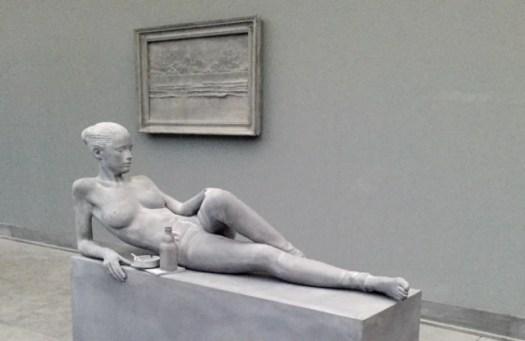 Auf der Art Unlimited bietet Hans Op de Beeck Impressionen eines zeitgenössischen Pompeii Szenarios unter dem Titel 'The Collector's House'