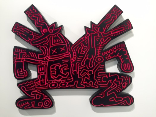 Double Barking Dog 'Untitled' von Keith Haring, Acrylic and enamel on carved and shaped wood, 90 x 100 x 6 cm, 1.1 Mio USD