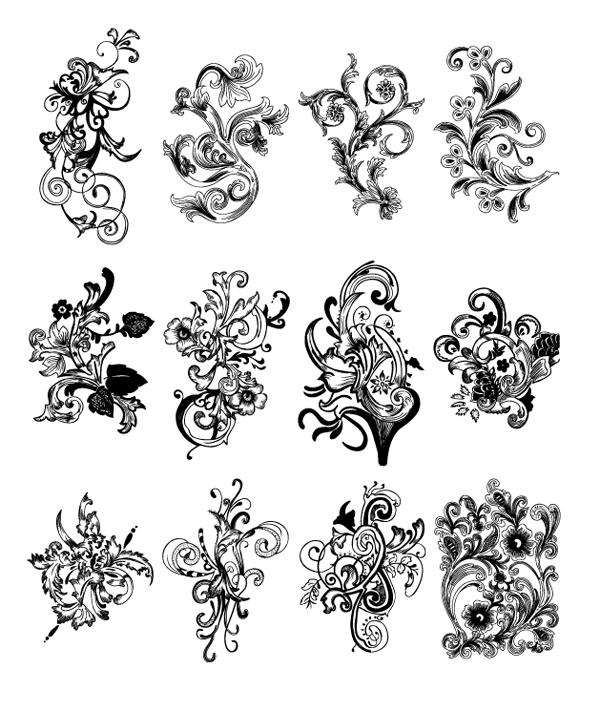 85 Ornamentos Vintage vectorizados (2/2)