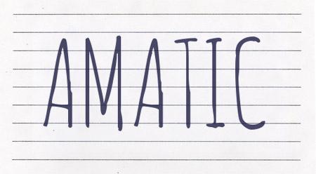 Amatic font