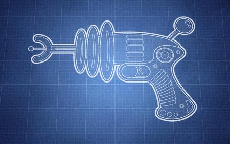 Ray gun illustration