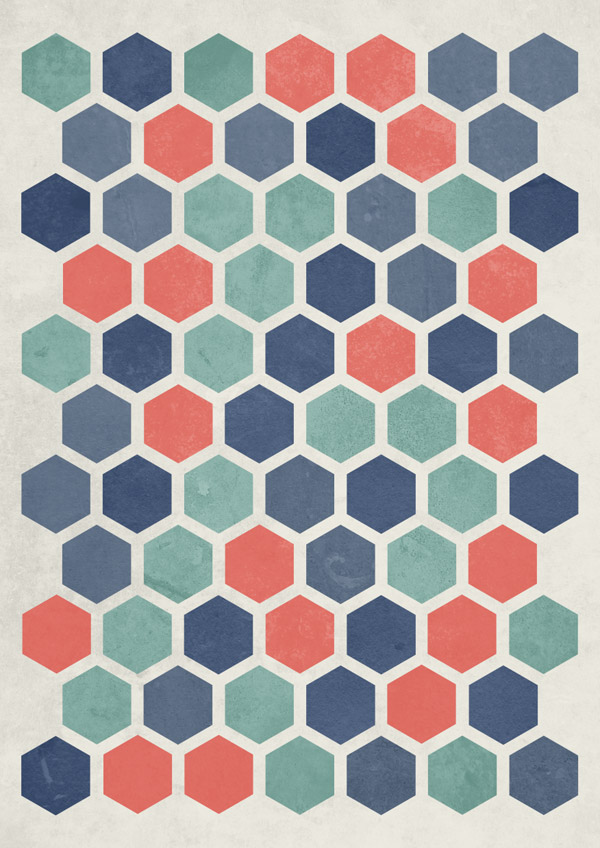 Abstract geometric poster design