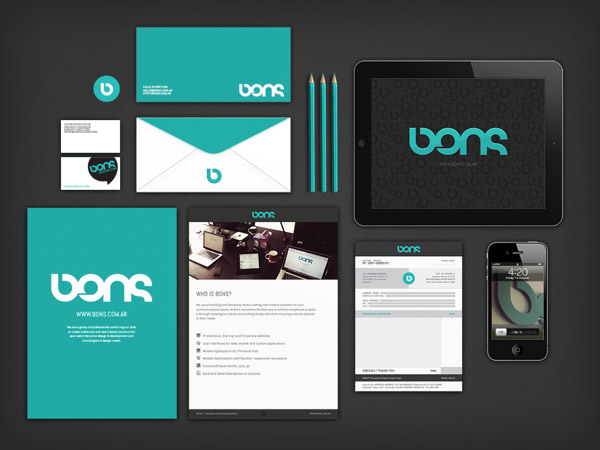 BONSDESIGN Interactive Branding Solutions Visual Identity