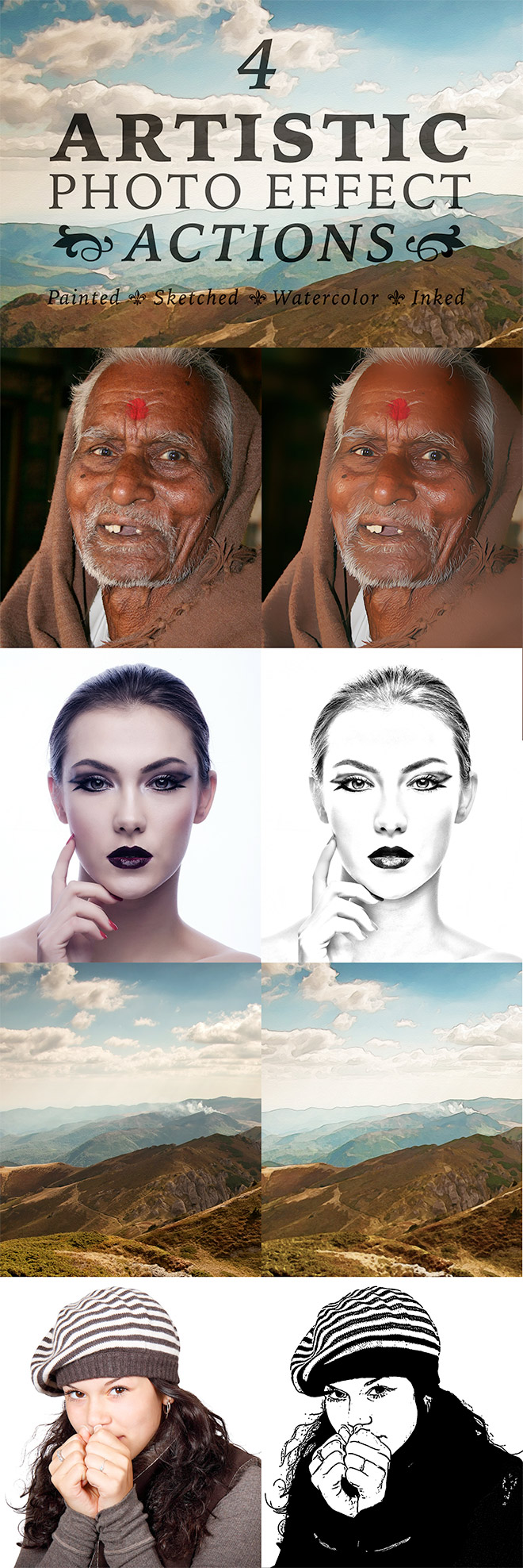 Artistic Photo Effect Actions