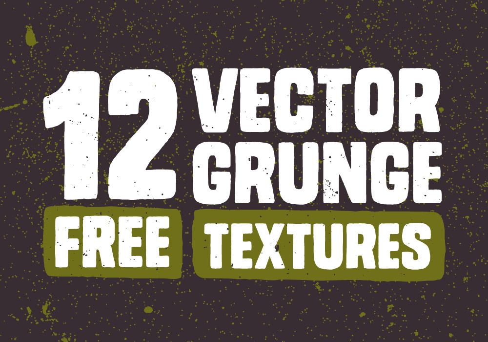 12 free vector grunge