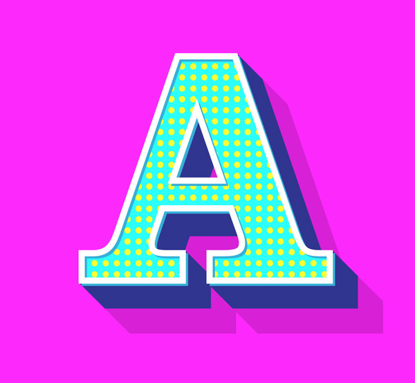 Retro Text Effects with Illustrator's Appearance Panel