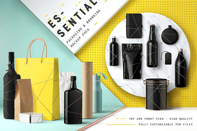 Inside the psd file, you can change the front artwork, side panel, inner portion of shopping bag, 33 Free Psds To Mockup Your Packaging Designs