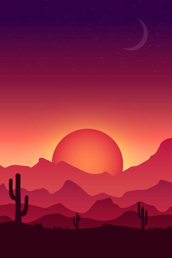 Create Colorful Vector Landscape Illustration