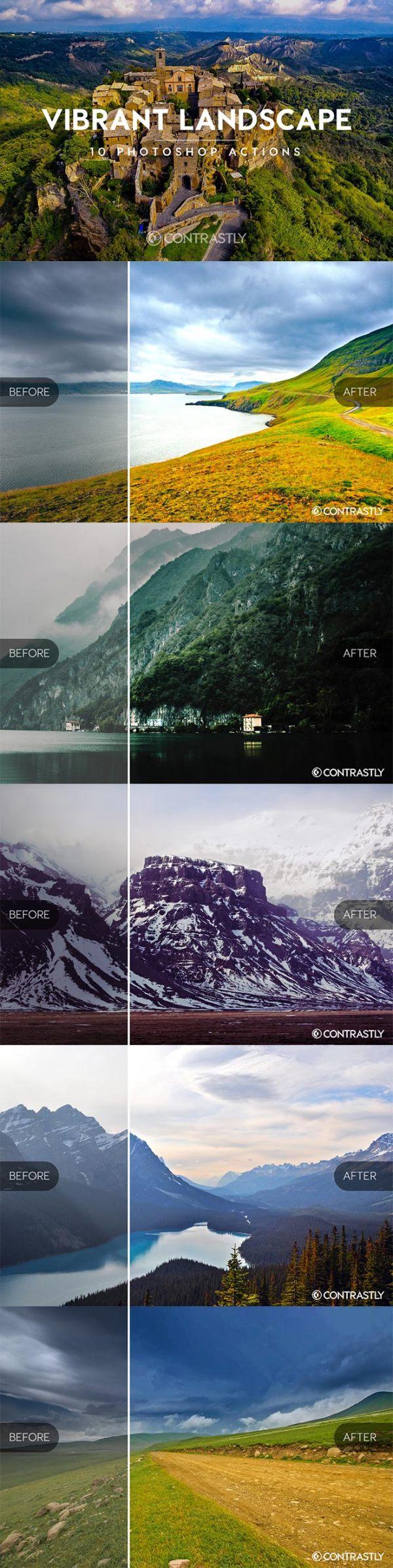 vibrant landscapes actions