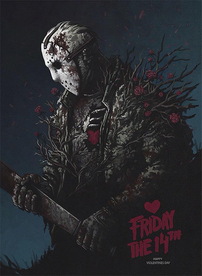 Friday The 14th - Happy Violentines Day by Yuri Shwedoff