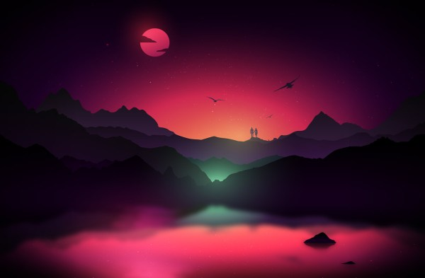 scenic landscape illustrations