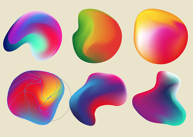 Abstract gradient shapes
