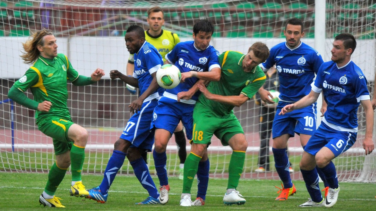 Dinamo Minsk in action during the Belarus Cup