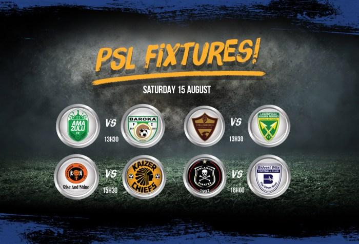 PSL Fixtures 15 August