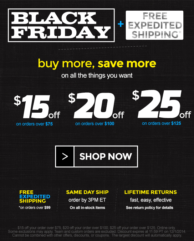 Black Friday at Sports Unlimited