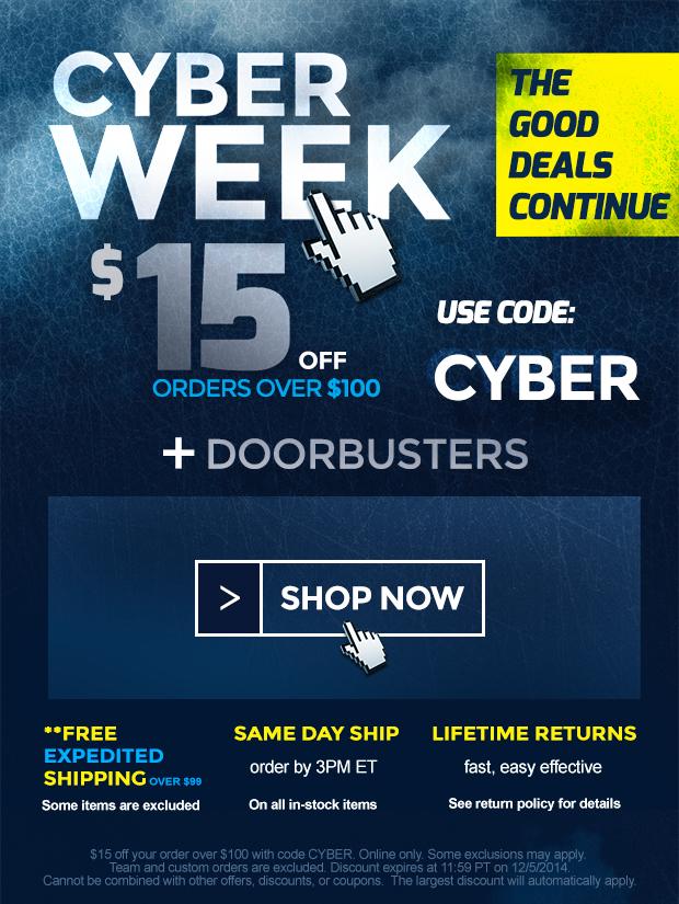 Cyber Week 2014 Sale