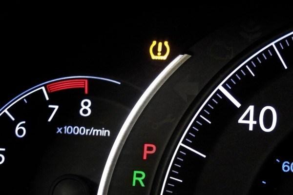Kontrolka ciśnienia w oponach