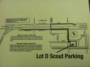 White Sox Parking Lot D Map