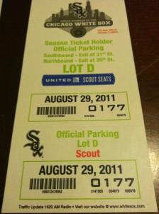 Chicago White Sox Parking Lot D Pass