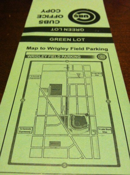 Cubs Green Lot Parking Map Spothero Blog