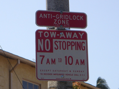 avoid parking ticket anti-gridlock no parking