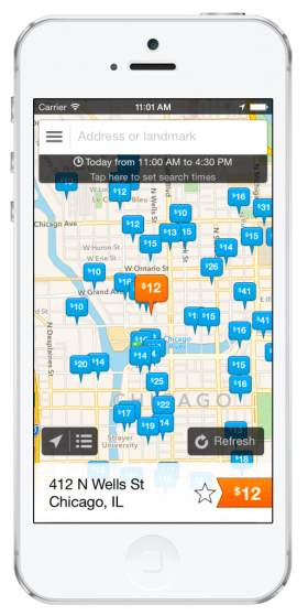 parking app - spothero