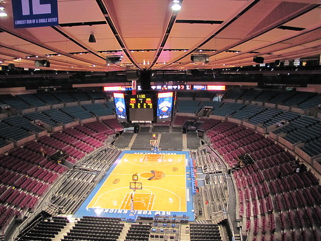 """Madison Square Garden (4432377106)"" by Andrés Nieto Porras from Palma de Mallorca, España - Madison Square GardenUploaded by russavia. Licensed under CC BY-SA 2.0 via Wikimedia Commons - http://commons.wikimedia.org/wiki/File:Madison_Square_Garden_(4432377106).jpg#/media/File:Madison_Square_Garden_(4432377106).jpg"