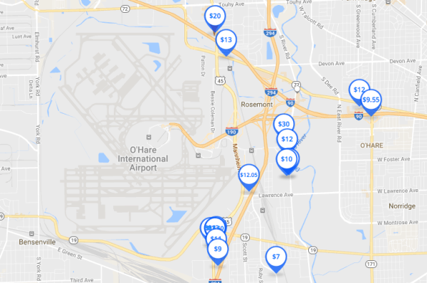 O'Hare Parking Map