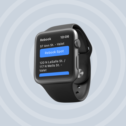 SpotHero app for Apple Watch