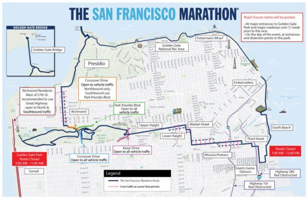 sf marathon parking road closures