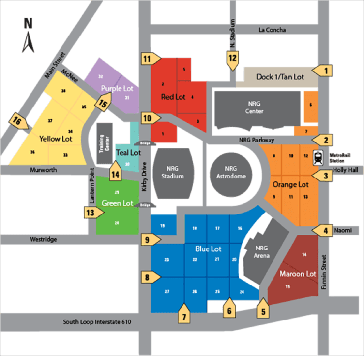 official nrg parking map