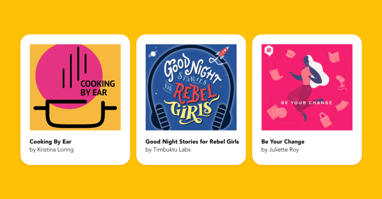 Podcast cover design examples