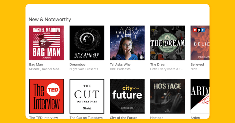 iTunes podcasts app submission