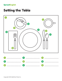 How to Set the Table: Prepositions of Place | Sprout English