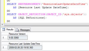 SQL SERVER - Resource Database ID - 32767 ResourceDatabase