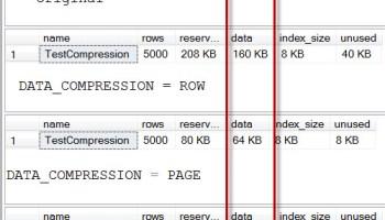 SQL SERVER - Data and Index Compression - Real-World Conversation datacompression