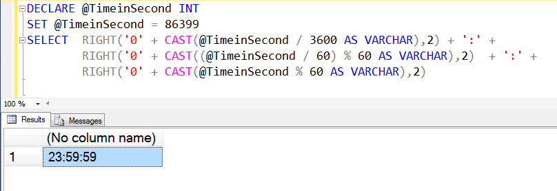 SQL SERVER - Convert Seconds to Hour : Minute : Seconds Format - Journey to SQL Authority with Pinal Dave
