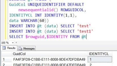 SQL SERVER - Identifying Column Data Type of uniqueidentifier